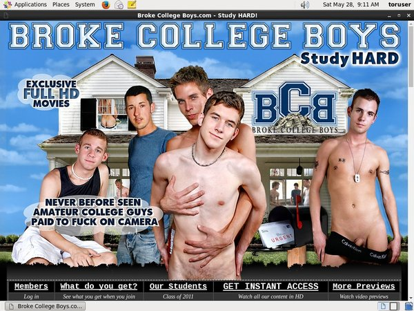 Broke College Boys Accounts For Free