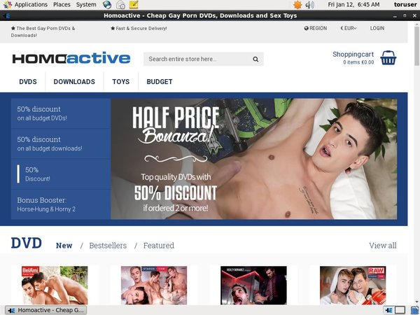 Homoactive Signup Page