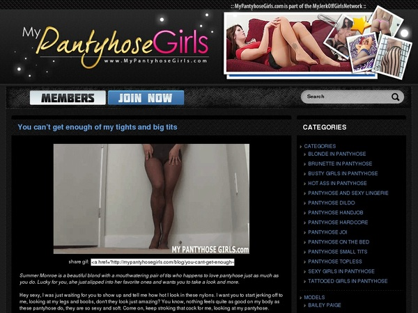 Mypantyhosegirls.com With Gift Card