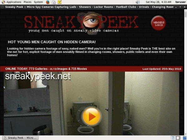 Sneaky Peek Id Password