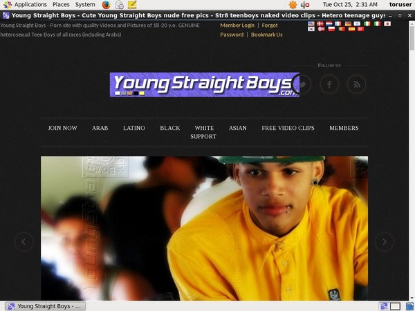 Young Straight Boys Ebony