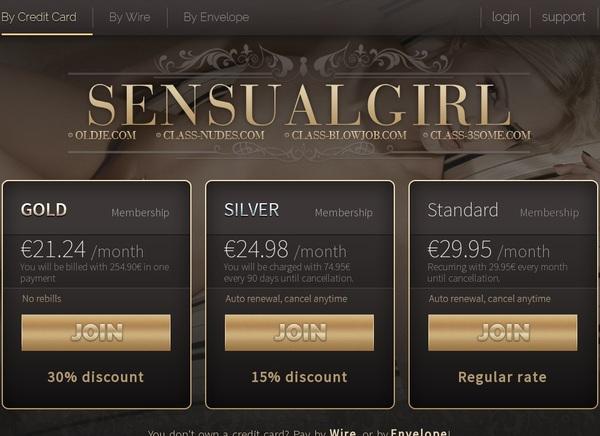 Sensual Girl Password Username