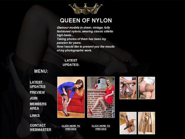 Queenofnylon.com Freies Konto